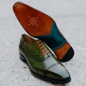 Giày da nam mũi vuông Oxford O2073 005