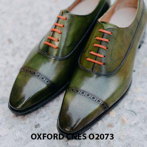 Giày da nam mũi vuông Oxford O2073 003