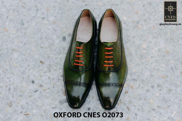 Giày da nam mũi vuông Oxford O2073 001