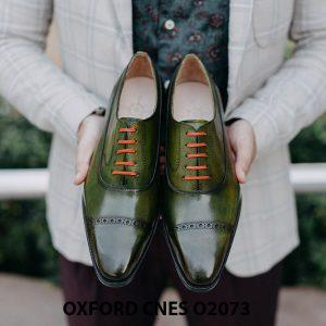 Giày da nam mũi vuông Oxford O2073 002