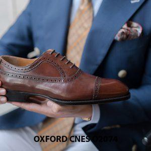 Giày da nam mẫu mới nhất Oxford O2074 004