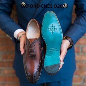 Giày da nam thiết kế độc đáo Oxford O2076 003