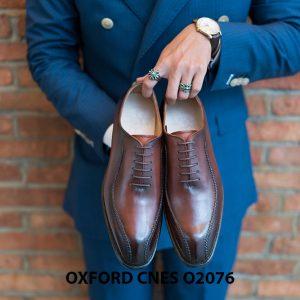 Giày da nam thiết kế độc đáo Oxford O2076 001