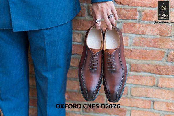 Giày da nam thiết kế độc đáo Oxford O2076 002