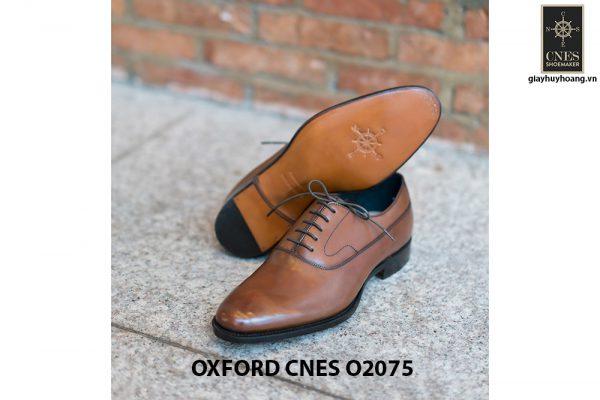 Giày da nam mũi trơn bóng Oxford O2075 004