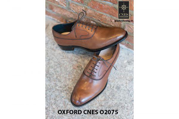 Giày da nam mũi trơn bóng Oxford O2075 003