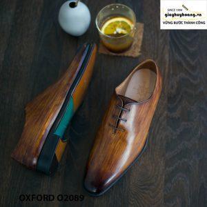Giày buộc dây nam đánh patina cọ quét Oxford O2089 004