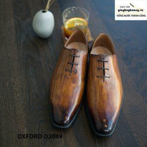 Giày buộc dây nam đánh patina cọ quét Oxford O2089 001