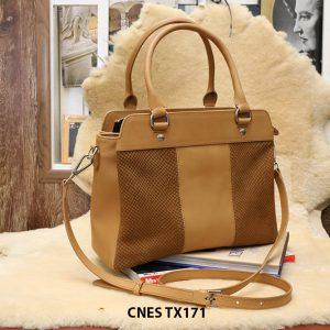 Túi xách da bê dùng đi chơi mua sắm CNES TX171 002
