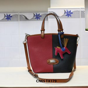 Túi xách da bò nữ đeo chéo dễ thương CNES TX179 005