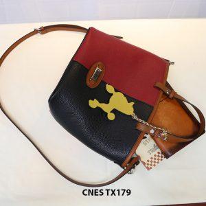 Túi xách da bò nữ đeo chéo dễ thương CNES TX179 003