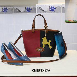 Túi xách da bò nữ đeo chéo dễ thương CNES TX179 001