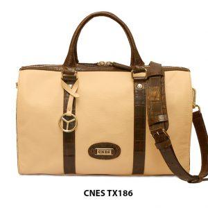 Túi xách du lịch da bò cho nữ chính hãng CNES TX186 001