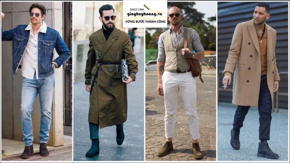 Cách phối đồ quần áo với giày Boot nam cổ cao chuẩn MEN 002