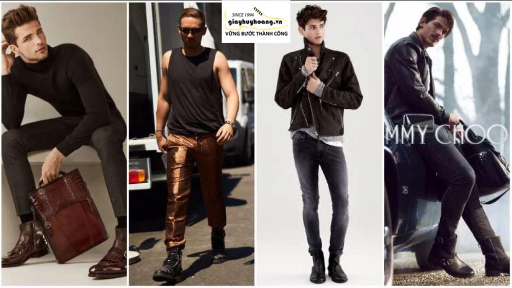 Cách phối đồ quần áo với giày Boot nam cổ cao chuẩn MEN 004