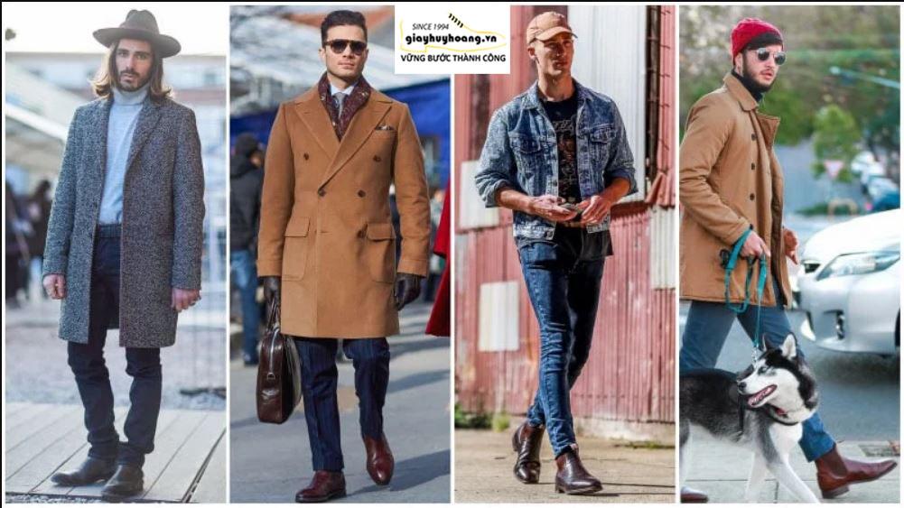 Cách phối đồ quần áo với giày Boot nam cổ cao chuẩn MEN 006