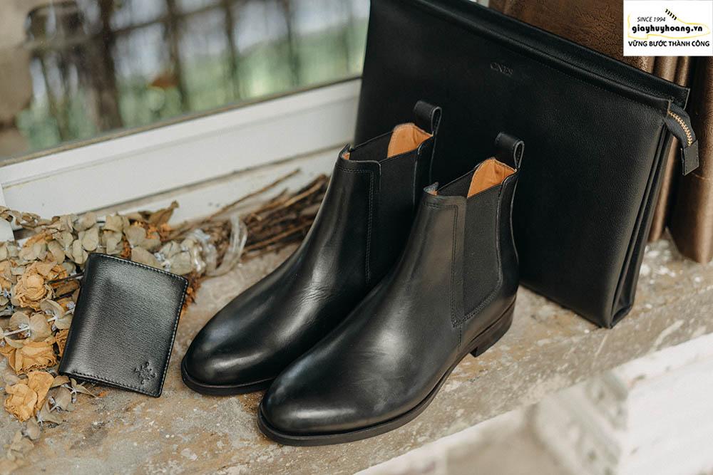 Cách phối đồ quần áo với giày Boot nam cổ cao chuẩn MEN 001