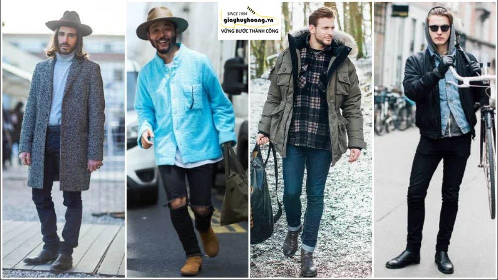 Cách phối đồ quần áo với giày Chelsea boot cổ cao nam như thế nào? 002