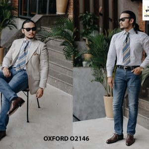 Giày da nam hàng hiệu được yêu thích Oxford O2146 003