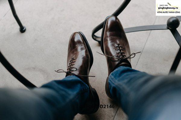 Giày da nam hàng hiệu được yêu thích Oxford O2146 001