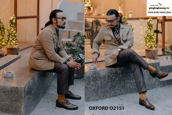 Giày tây nam giúp bạn sang trọng Oxford O2151 005