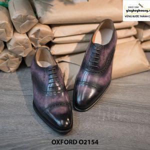 Giày tây nam thủ công handmade Oxford O2154 003