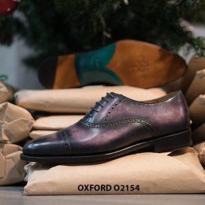 Giày tây nam thủ công handmade Oxford O2154 002