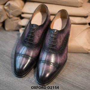 Giày tây nam thủ công handmade Oxford O2154 001