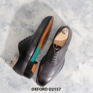 Giày tây nam từ da bê nhập Ý Italia Oxford O2157 004
