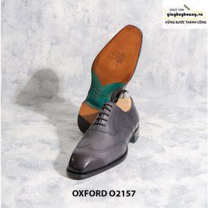 Giày tây nam từ da bê nhập Ý Italia Oxford O2157 003