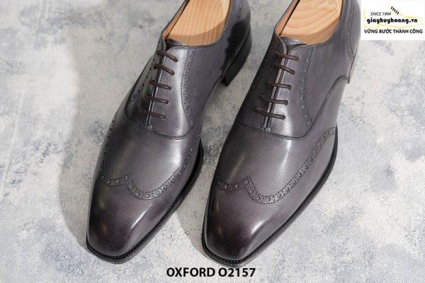 Giày tây nam từ da bê nhập Ý Italia Oxford O2157 001