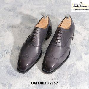 Giày tây nam từ da bê nhập Ý Italia Oxford O2157 002