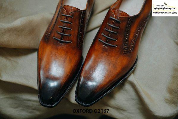 Giày tây nam da bò thật cao cấp Oxford O2167 006