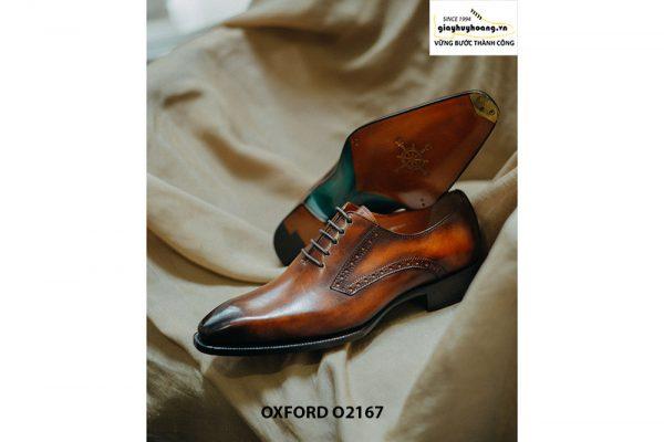 Giày tây nam da bò thật cao cấp Oxford O2167 005