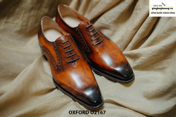 Giày tây nam da bò thật cao cấp Oxford O2167 001