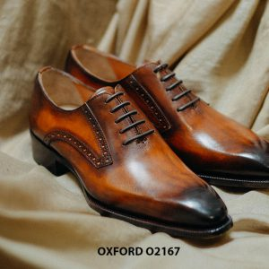 Giày tây nam da bò thật cao cấp Oxford O2167 003
