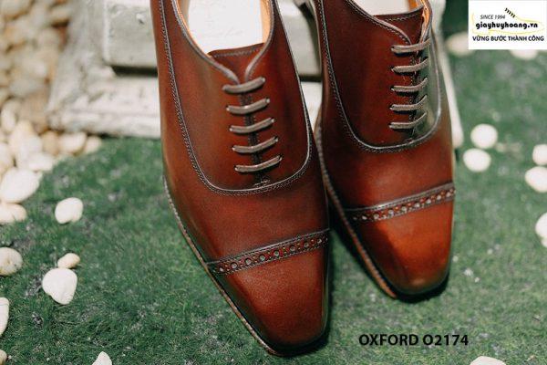 Giày tây nam mua 1 dùng cả đời Oxford O2174 001