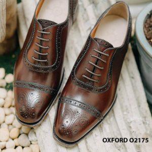 Giày tây nam phong cách đỉnh captoe Oxford O2175 001