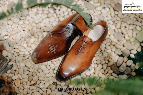 Giày tây nam da trơn thiết kế táo bạo Oxford O2176 004