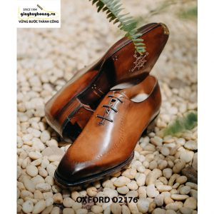 Giày tây nam da trơn thiết kế táo bạo Oxford O2176 003