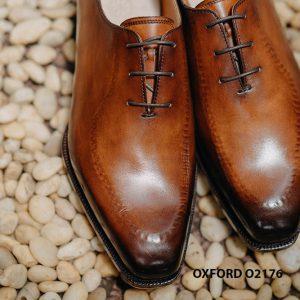 Giày tây nam da trơn thiết kế táo bạo Oxford O2176 002