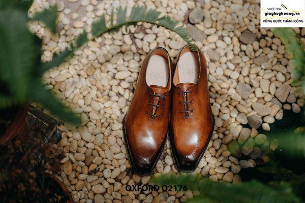 Giày tây nam da trơn thiết kế táo bạo Oxford O2176 001