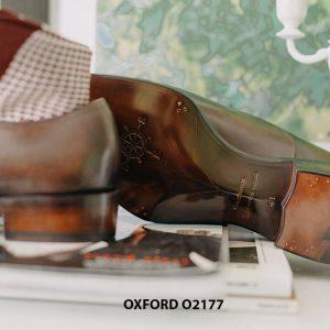 Giày tây nam thiết kế may chỉ trong Oxford O2177 006