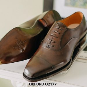 Giày tây nam thiết kế may chỉ trong Oxford O2177 003
