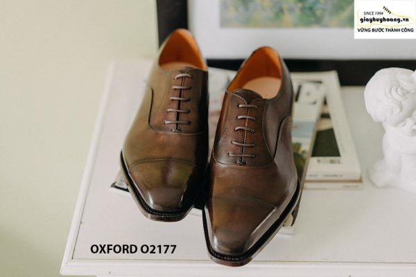 Giày tây nam thiết kế may chỉ trong Oxford O2177 001