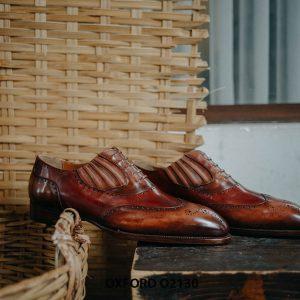 Giày tây nam giả buộc dây cao cấp Oxford O2130 001