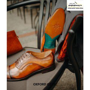 Giày tây nam da bê nhập ý italy Oxford O2132 003