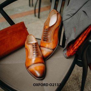 Giày tây nam da bê nhập ý italy Oxford O2132 001