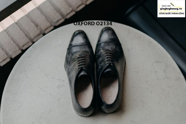 Giày tây nam thủ công da bê mịn đẹp Oxford O2134 007