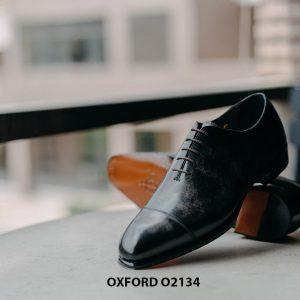 Giày tây nam thủ công da bê mịn đẹp Oxford O2134 006